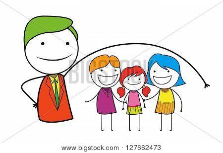Family insurance .eps10 editable vector illustration design