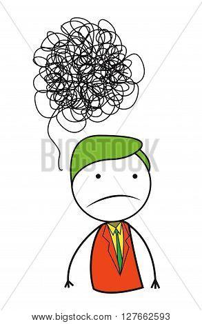 Man problem .eps10 editable vector illustration design