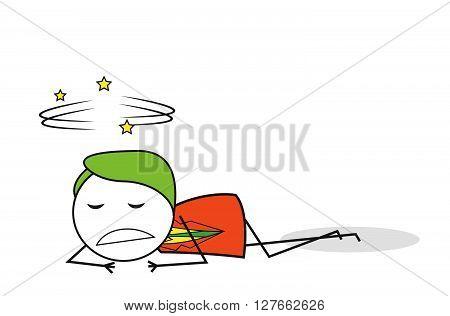 Businessman fall down .eps10 editable vector illustration design