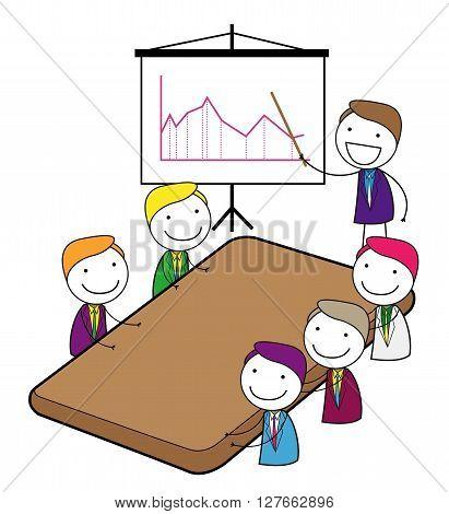 Meeting presentation .eps10 editable vector illustration design