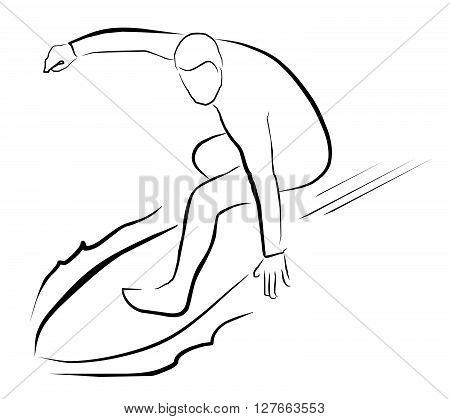 Surfer Sport Illustration .eps10 editable vector illustration design
