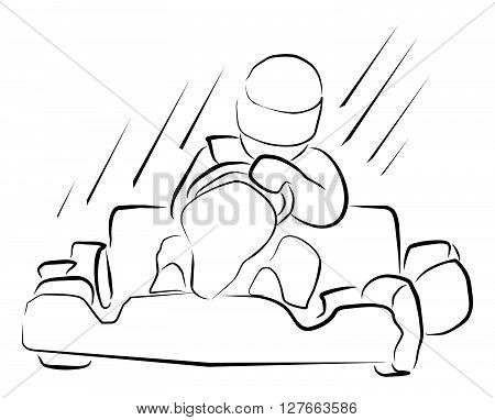 Gokart  vector illustration .eps10 editable vector illustration design