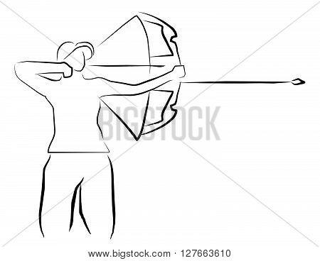Archery sport illustration .eps10 editable vector illustration design