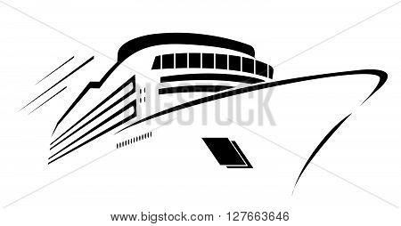 Yacht Symbol Vector Illustration .eps10 editable vector illustration design