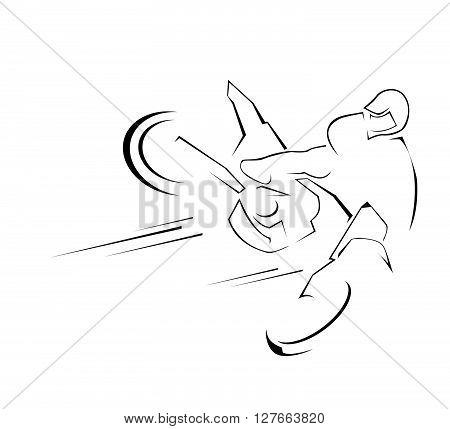 Motor Sport .eps10 editable vector illustration design