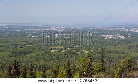 View of the city of Anchorage, Alaska