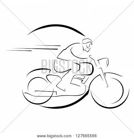 Old motorcycle .eps10 editable vector illustration design
