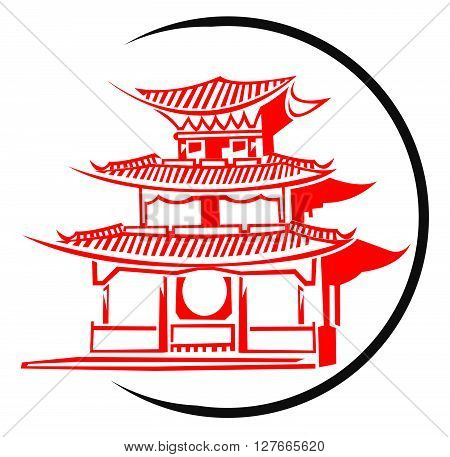 Chinese Temple Symbol.eps10 editable vector illustration design