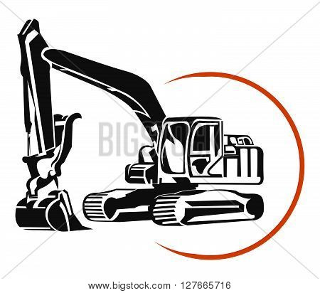Escavator illustration .eps10 editable vector illustration design