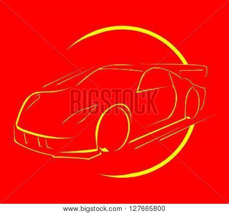 Car race .eps10 editable vector illustration design