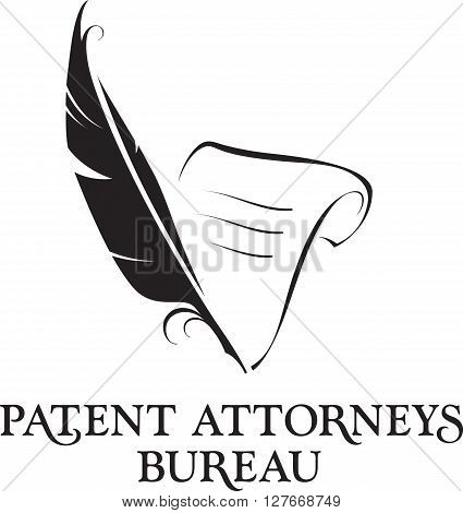 Law office logo. Vector attorney logo. Vector vintage lawyer logo. Law firm label. Lawyer logo template. Attorney sign. Legal concept.