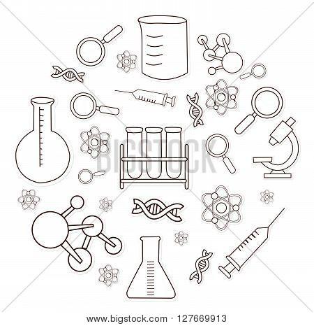 Bio Technology Object Hand Drawn Sketch Doodle.eps10 editable vector illustration design