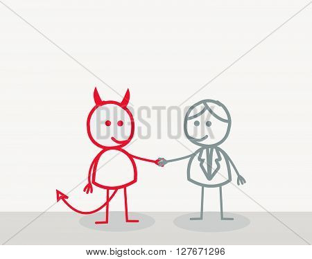 Man Devil .eps10 editable vector illustration design