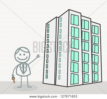 Realestate agent .eps10 editable vector illustration design