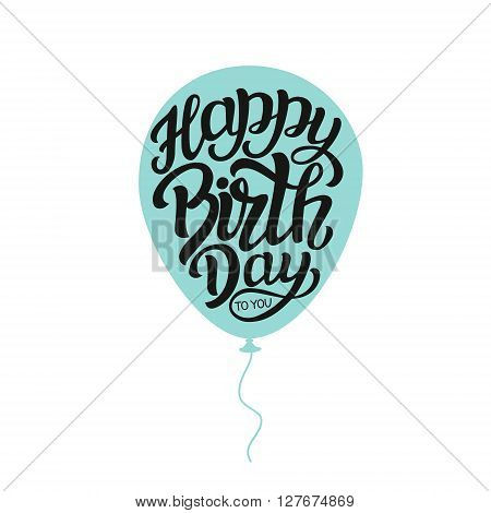 Happy Birthday Typography Lettering Template