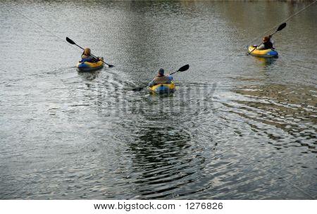 Trio Kayaking