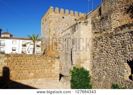 View of part of the fortified town wall Antequera Malaga Province Andalucia Spain Western Europe.