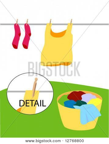 Laundry - Separate Items - Vector