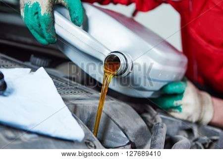 automobile car oil replacement