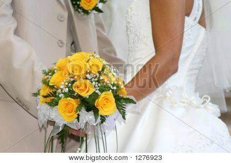 Wedding Bouquet From Yellow Roses