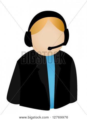 Call Center Agent - Vector