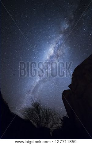 The magic of the night sky of Namibia the Milky Way seen in camping of Damaraland