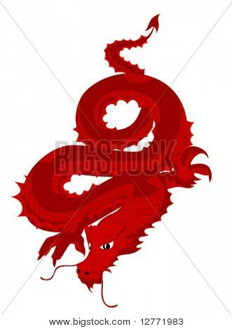 Red Dragon - Vector