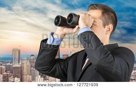 Binoculars.