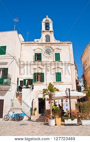 Clocktower of Polignano a mare. Puglia. Italy.