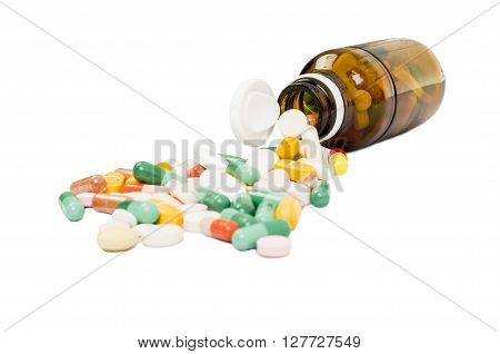Bottle And Spilled Pills