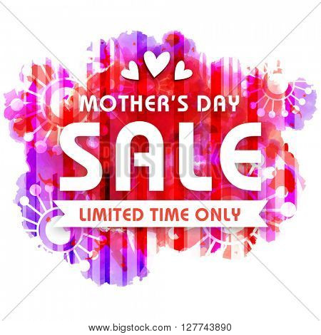 Mother's Day Sale Background, Sale Poster, Sale Banner, Sale Flyer, Limited Time Sale, Creative colorful vector illustration.