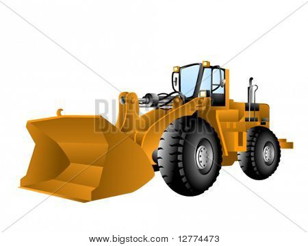 Wheel Loader - Vector