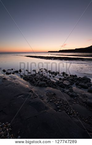 Kimmeridge Bay on the Dorset coast, in England, UK