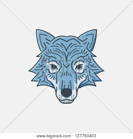 Wolf Head line illustration