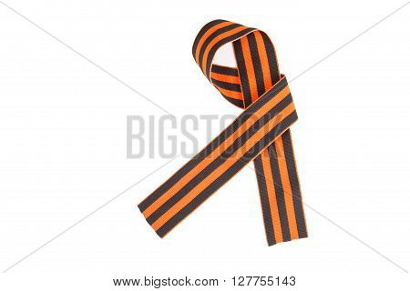 St. George Ribbon - Symbol Of Russian Military Prowess  Isolated On A White Background