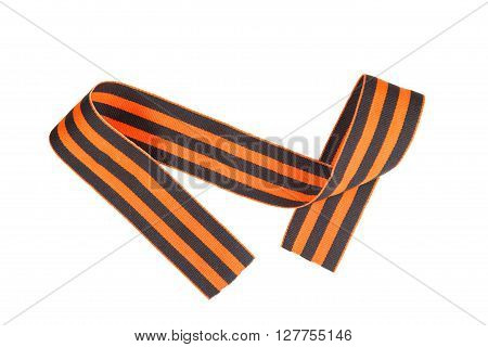 9 May - St. George Ribbon. Isolated On White.