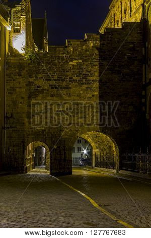 Maastricht, Netherlands - May 15: There are passage and travel through the old city walls May 15, 2013 in Maastricht, Netherlands.