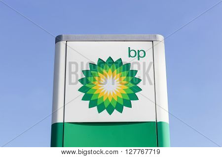 Macon, France - March 22, 2016: BP also name British Petroleum, is one of the world's six biggest oil and gas companies. It is a British multinational company, headquartered in London, England