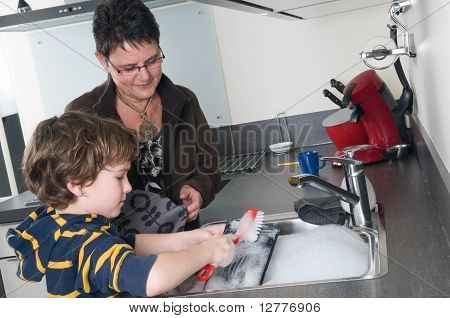 Doing The Dishes With Grandma