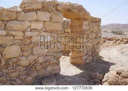 Moa fortress, ancient ruined building in South Israel