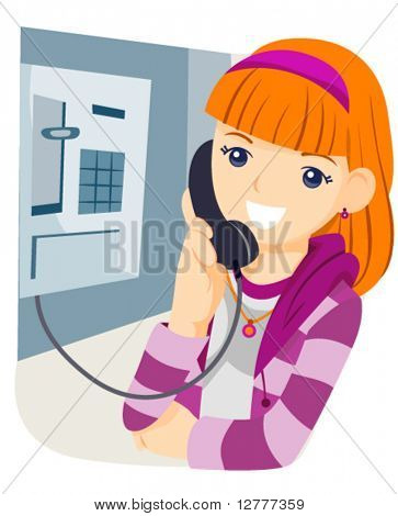 Phone Booth - Vector