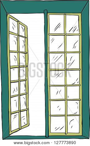 Open Casement Window