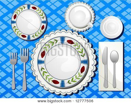 Table Setting - Vector