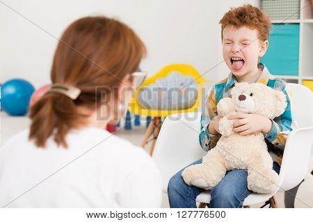 Naughty Child At Psychologist's