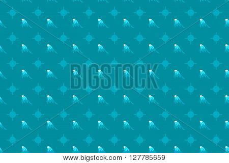 Wave Seamless Pattern Background. Wave Pattern Design. Vector Stock.