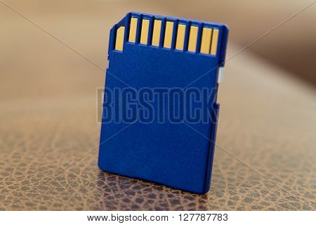 Micro SD Card at The Texture of the Skin Substitute