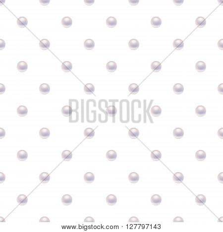 Seamless pattern with pearls. Pearl seamless pattern vector. Pearl seamless pattern illustration. Pearl  seamless pattern art. Vector EPS10 illustration.