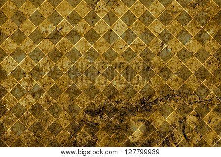 Texture Of Gold Marble Slab Macro Rhombus Styled