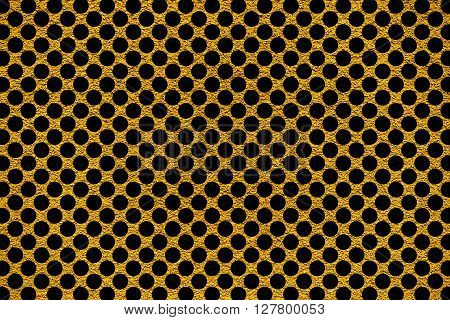 Golden Revetment Wall Putty Macro Texture Background Black Rounds Styled