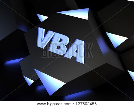 VBA (Visual Basic for Applications) - automating processes - computer generated image (3D render)